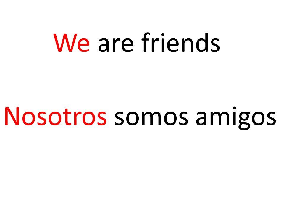 We are friends Nosotros somos amigos