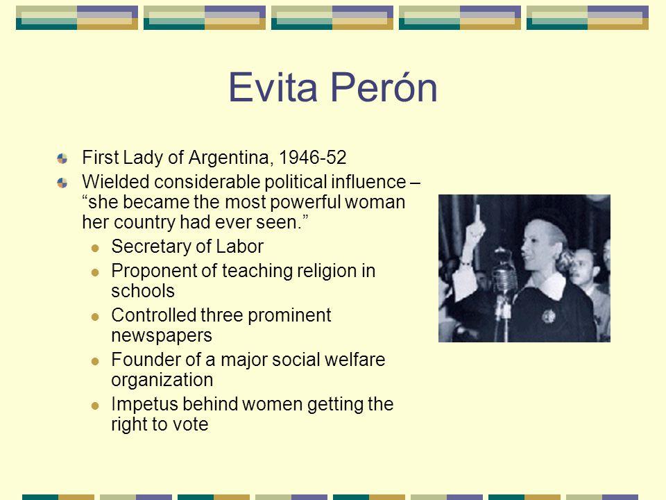 Who was Evita Perón