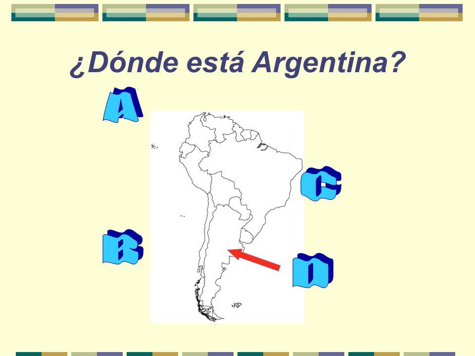 ¿Dónde está Argentina?
