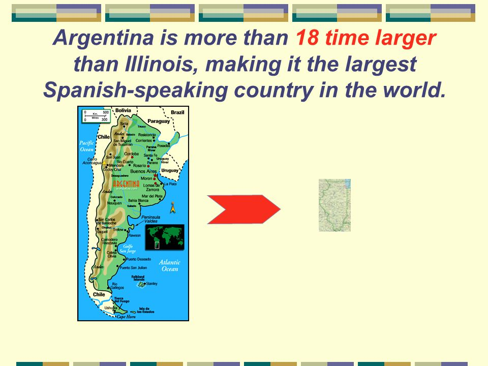 How large is Argentina compared to Illinois