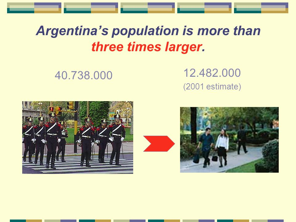 How large is Argentina's population compared to that of Illinois