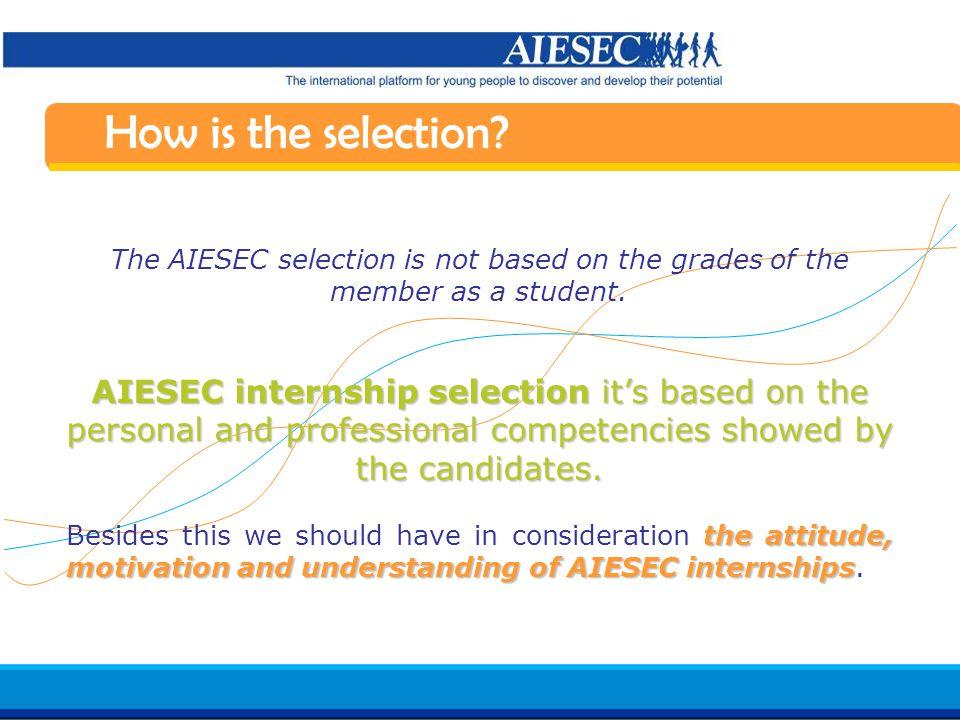 Haga clic para modificar el estilo de texto del patrón Segundo nivel Tercer nivel Cuarto nivel Quinto nivel 10 AIESEC in Spain Induction 07/08 What are the selection stages.