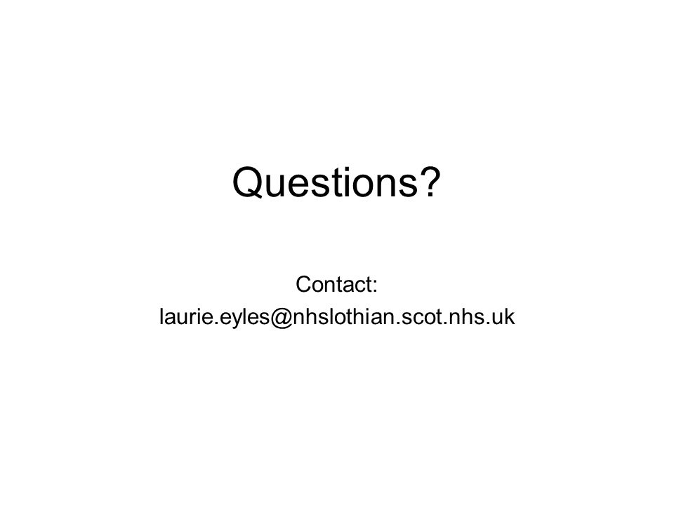 Questions Contact: