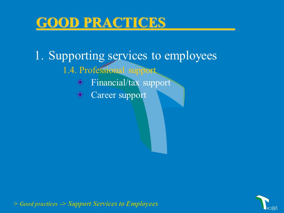 1.Supporting services to employees 1.4.
