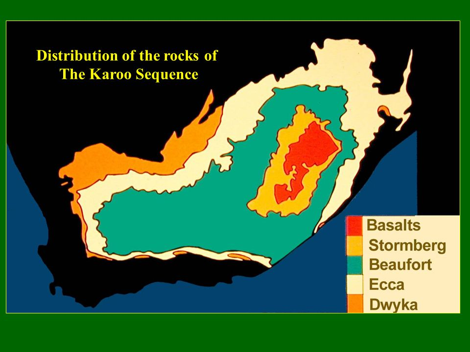 Distribution of the rocks of The Karoo Sequence