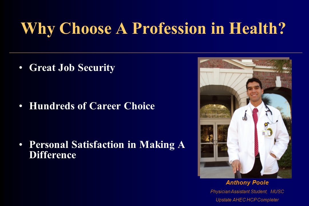 Why Choose A Profession in Health.