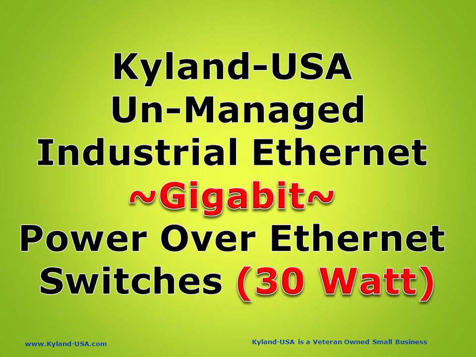 Kyland-USA is a Veteran Owned Small Business