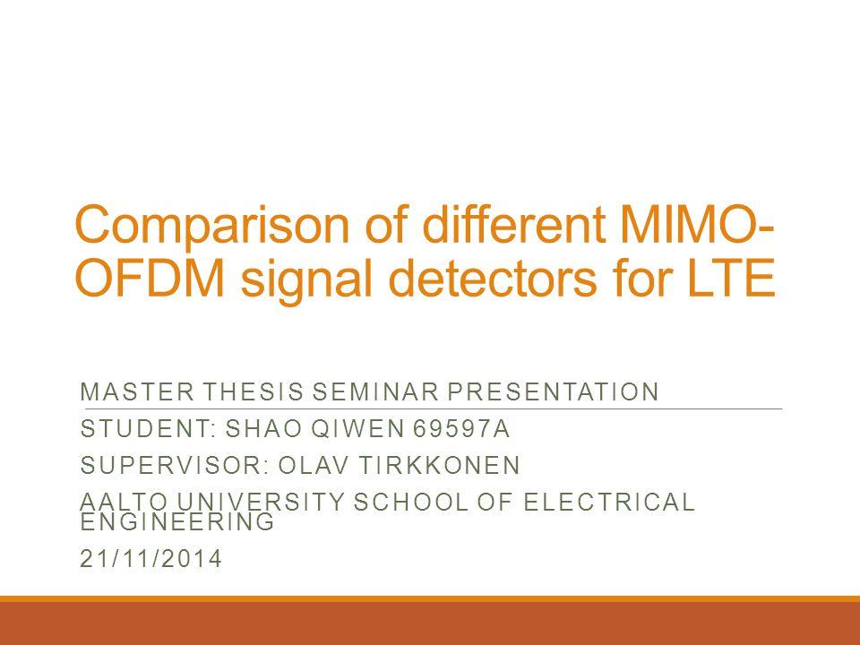 thesis on mimo-ofdm performance analysis