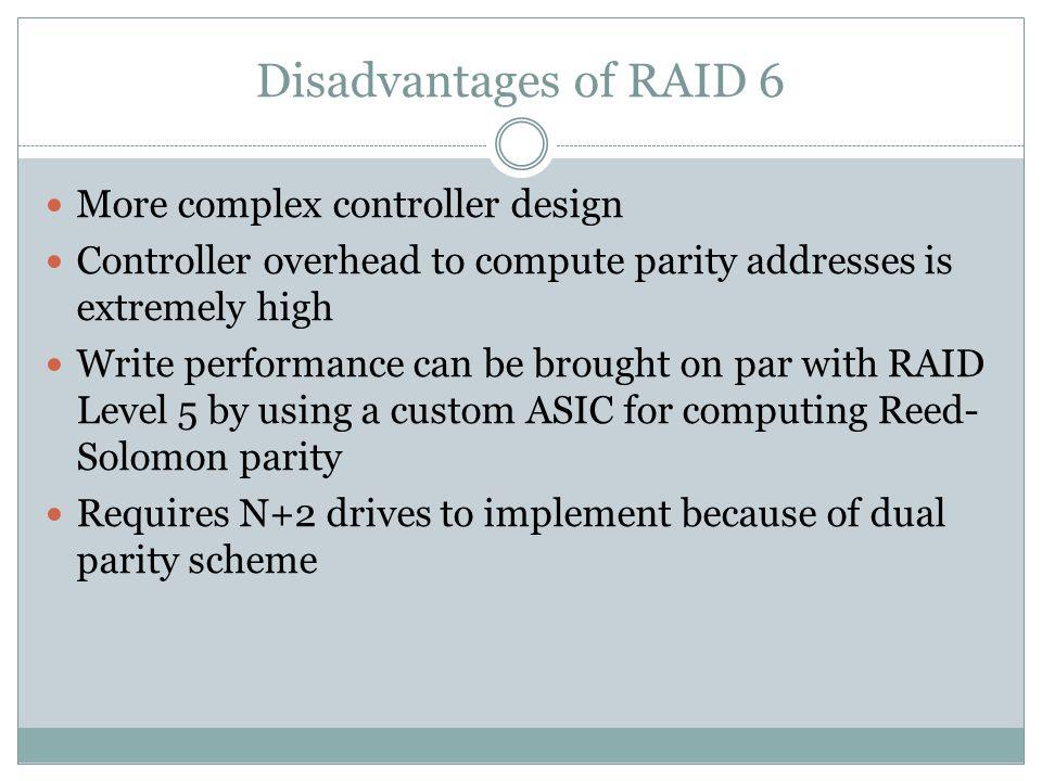27 Disadvantages Of Raid 6 More Complex Controller Design