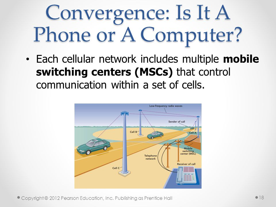 Each cellular network includes multiple mobile switching centers (MSCs) that control communication within a set of cells.