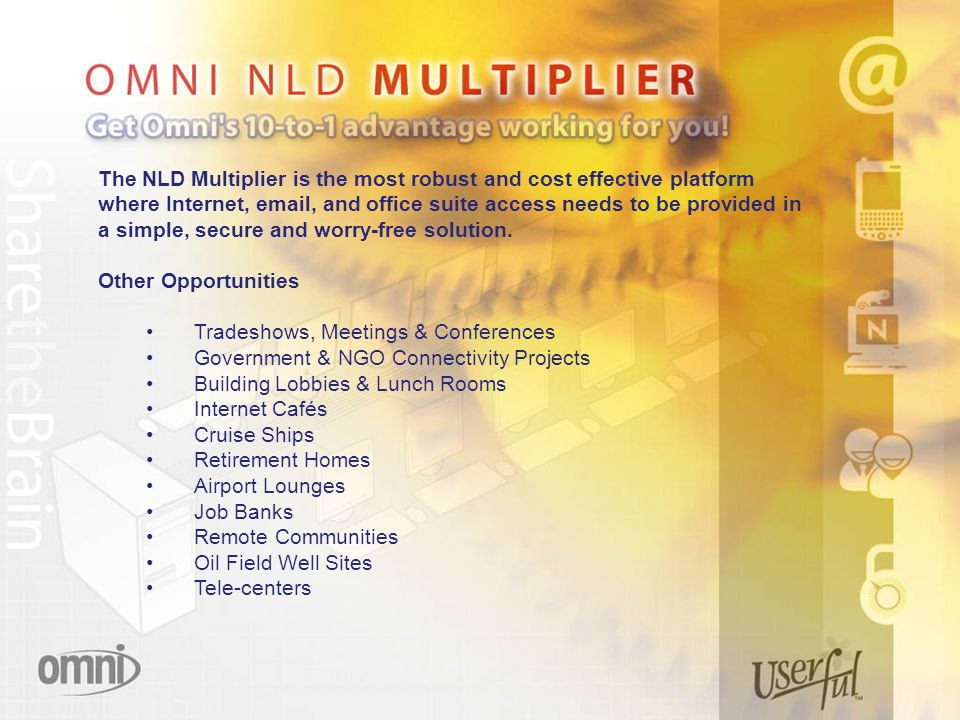 The NLD Multiplier is the most robust and cost effective platform where Internet,  , and office suite access needs to be provided in a simple, secure and worry-free solution.