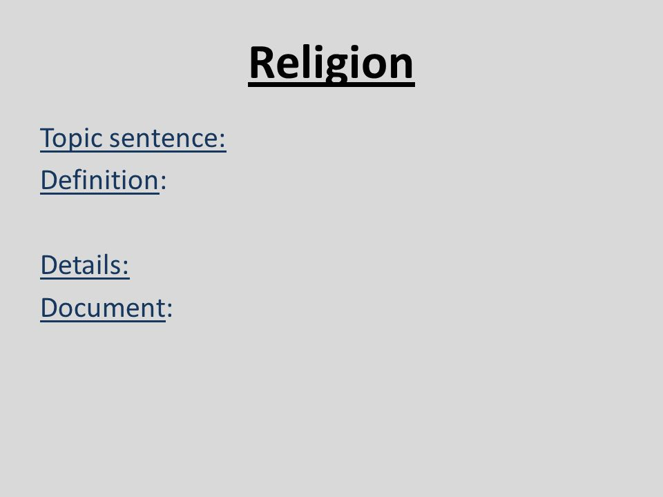 Religion Class Essay Question! Help!?