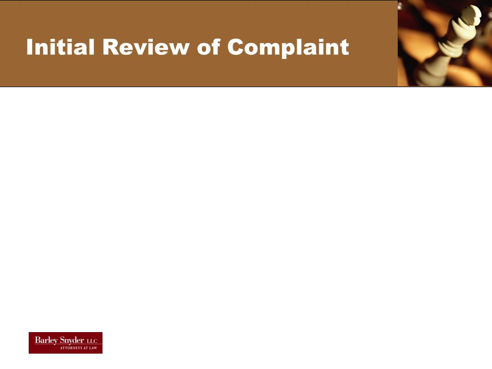 Initial Review of Complaint
