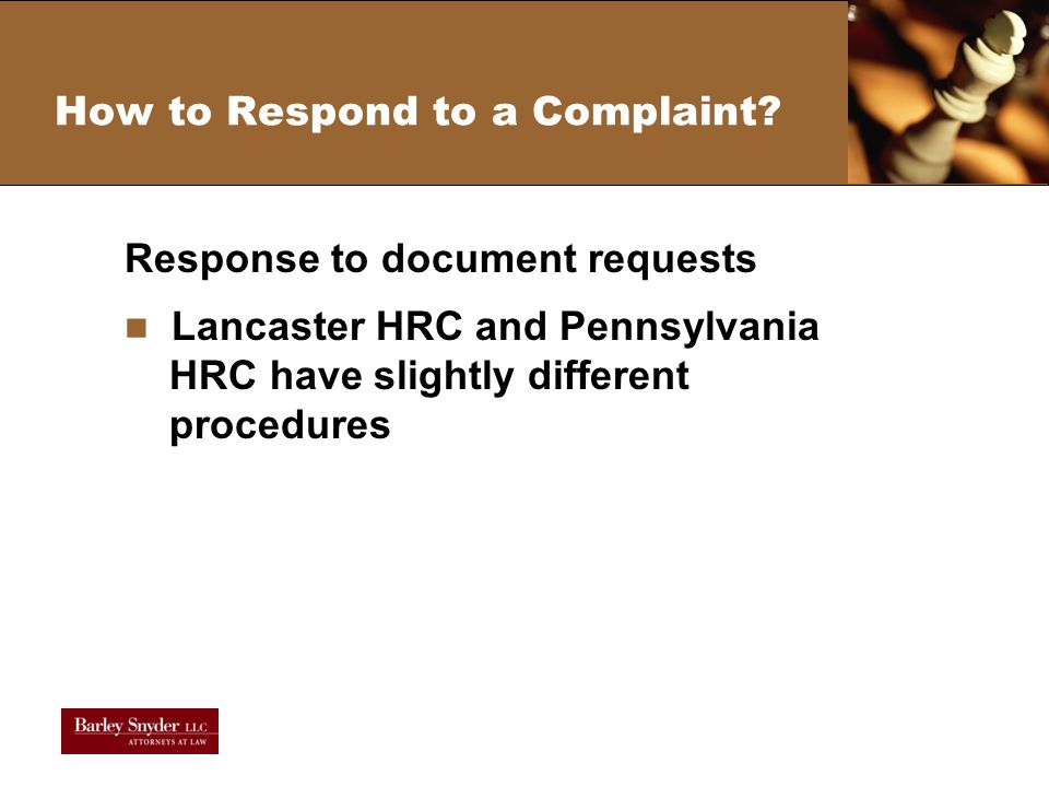 How to Respond to a Complaint.