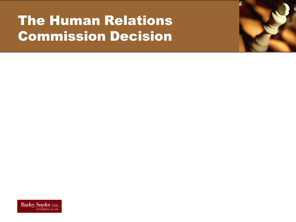 The Human Relations Commission Decision