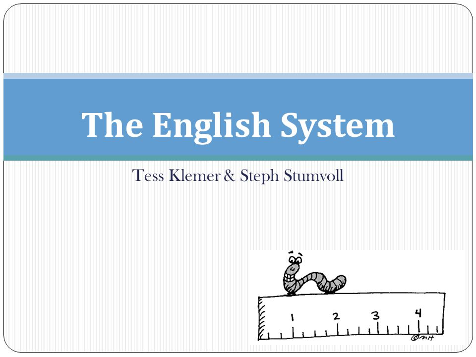 Tess Klemer Steph Stumvoll The English System What Does This - Map of us customary system