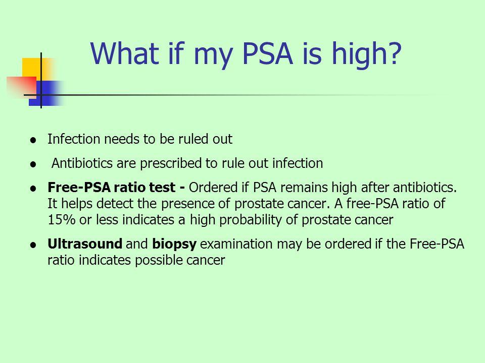 Prostate cancer free psa