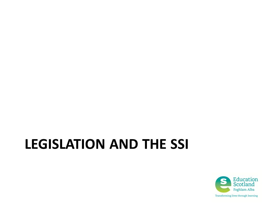 LEGISLATION AND THE SSI