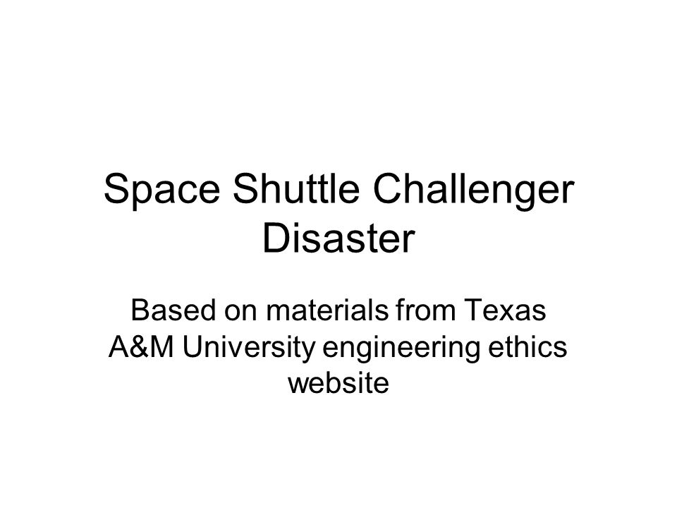 the challenger disaster essay