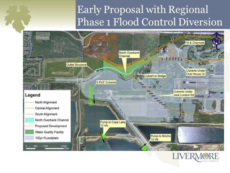 Early Proposal with Regional Phase 1 Flood Control Diversion