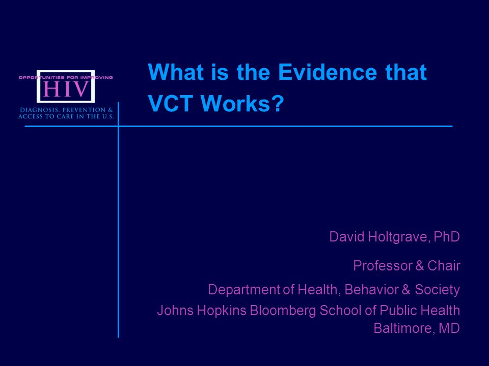 What is the Evidence that VCT Works.