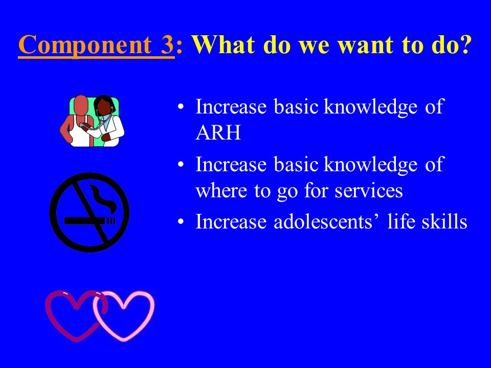 Component 3: 3: Why ARH information and skills.