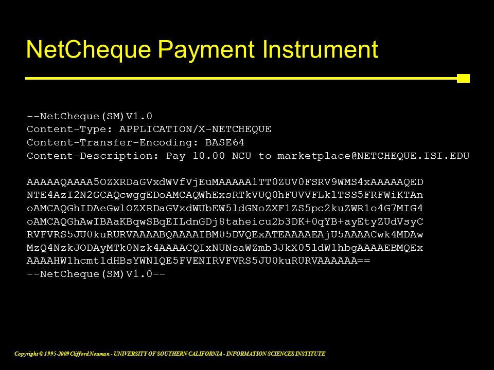 Copyright © 1995-2009 Clifford Neuman - UNIVERSITY OF SOUTHERN CALIFORNIA - INFORMATION SCIENCES INSTITUTE NetCheque Payment Instrument --NetCheque(SM)V1.0 Content-Type: APPLICATION/X-NETCHEQUE Content-Transfer-Encoding: BASE64 Content-Description: Pay 10.00 NCU to marketplace@NETCHEQUE.ISI.EDU AAAAAQAAAA5OZXRDaGVxdWVfVjEuMAAAAA1TT0ZUV0FSRV9WMS4xAAAAAQED NTE4AzI2N2GCAQcwggEDoAMCAQWhExsRTkVUQ0hFUVVFLklTSS5FRFWiKTAn oAMCAQGhIDAeGwlOZXRDaGVxdWUbEW5ldGNoZXF1ZS5pc2kuZWR1o4G7MIG4 oAMCAQGhAwIBAaKBqwSBqEILdnGDj8taheicu2b3DK+0qYB+ayEtyZUdVsyC RVFVRS5JU0kuRURVAAAABQAAAAIBM05DVQExATEAAAAEAjU5AAAACwk4MDAw MzQ4NzkJODAyMTk0Nzk4AAAACQIxNUNsaWZmb3JkX05ldW1hbgAAAAEBMQEx AAAAHW1hcmtldHBsYWNlQE5FVENIRVFVRS5JU0kuRURVAAAAAA== --NetCheque(SM)V1.0--