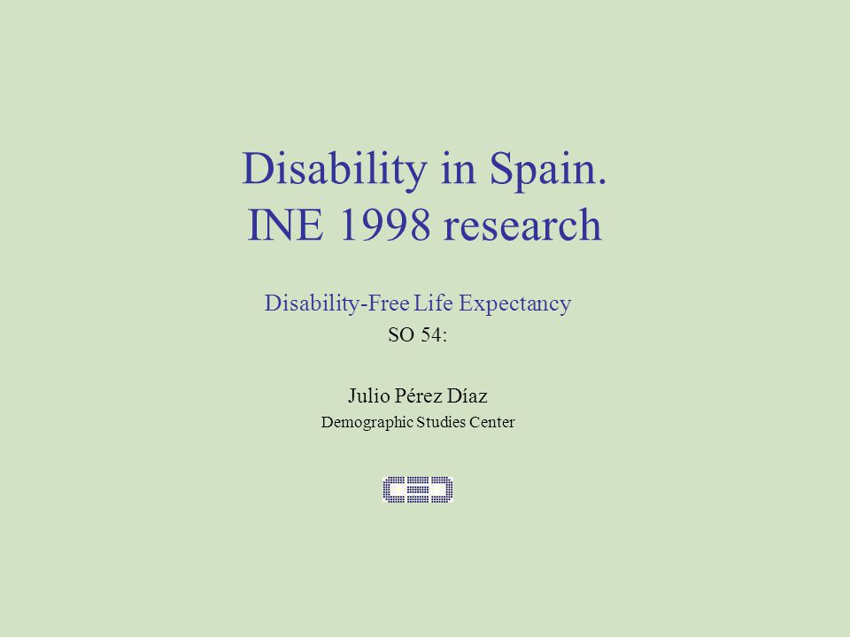 Disability in Spain.