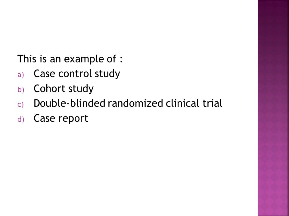 an example of a case study