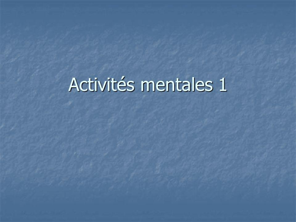 Activités mentales 1