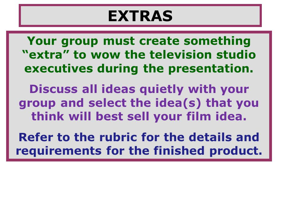 "movie pitch your task is to create a group presentation to ""pitch, Powerpoint templates"