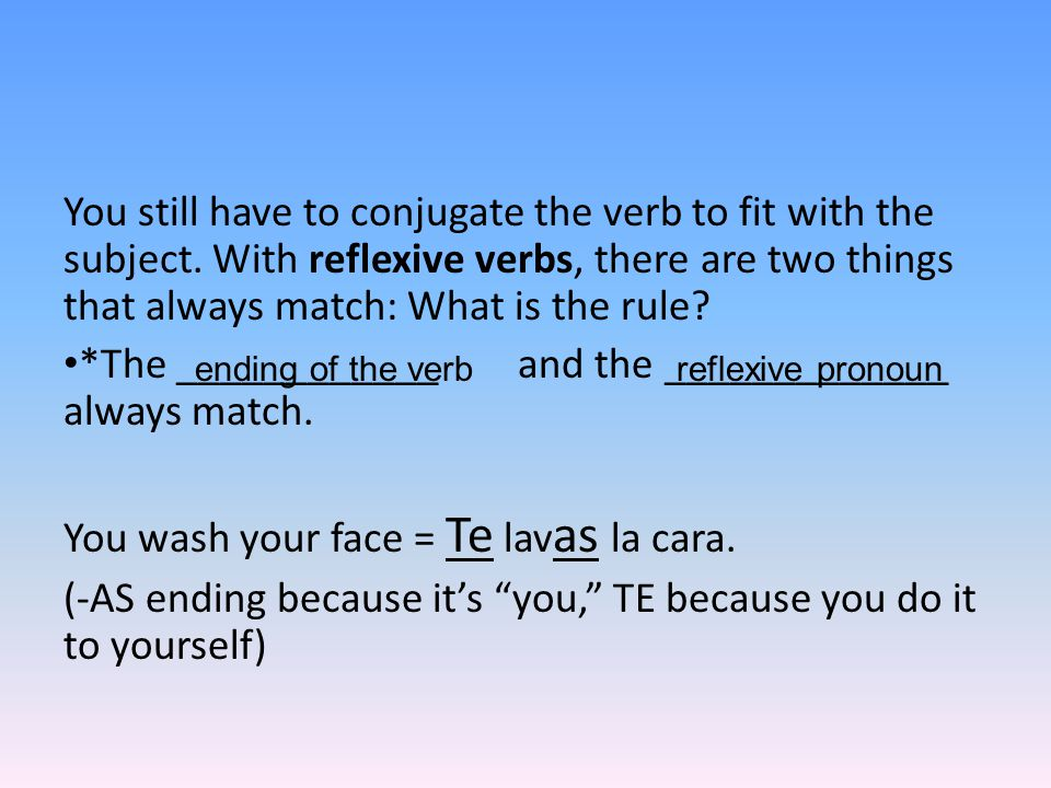 You still have to conjugate the verb to fit with the subject.