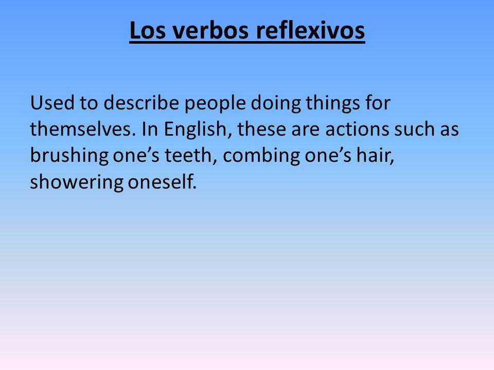 Mi rutina diaria: When conjugating the reflexive verb, form the se to match the verb (yo is me, etc), then put the reflexive pronoun BEFORE the conjugated verb.