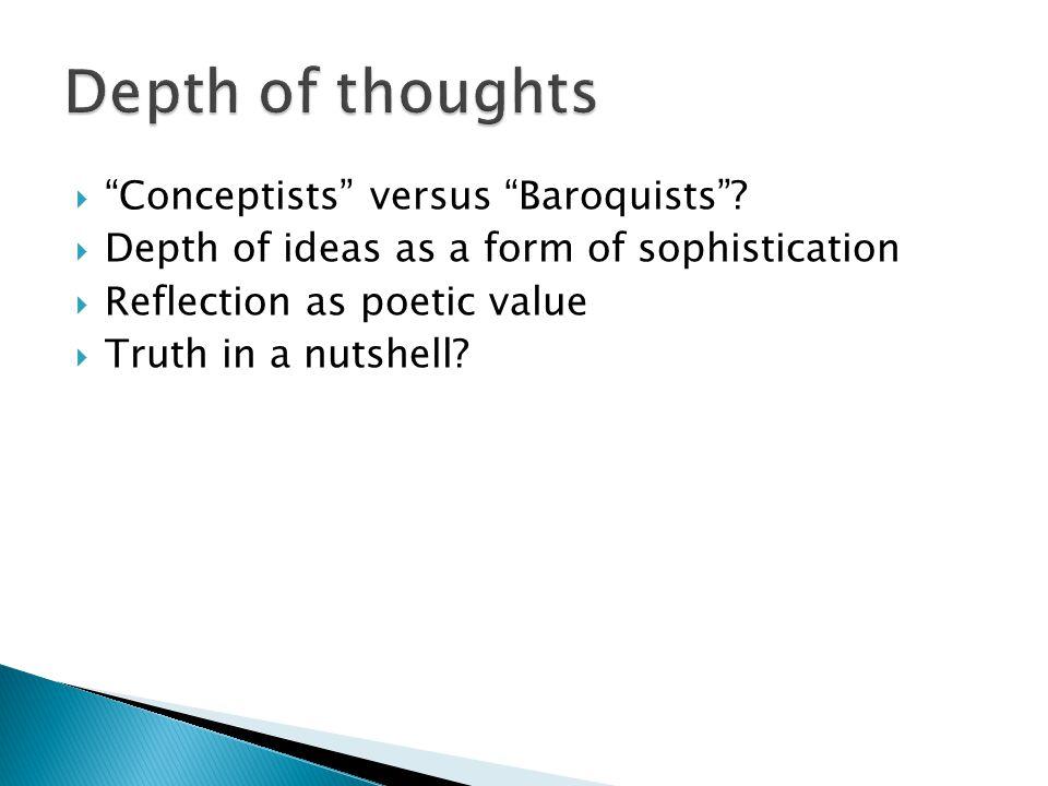  Conceptists versus Baroquists .
