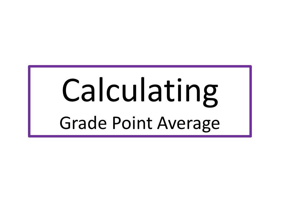 Calculating Grade Point Average