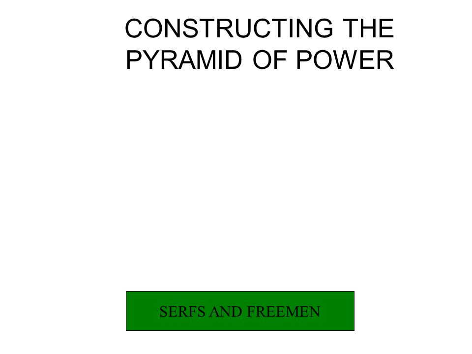 CONSTRUCTING THE PYRAMID OR POWER