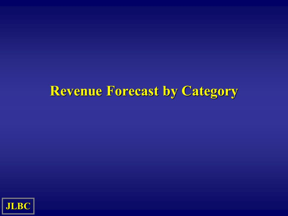 Revenue Forecast by Category JLBC