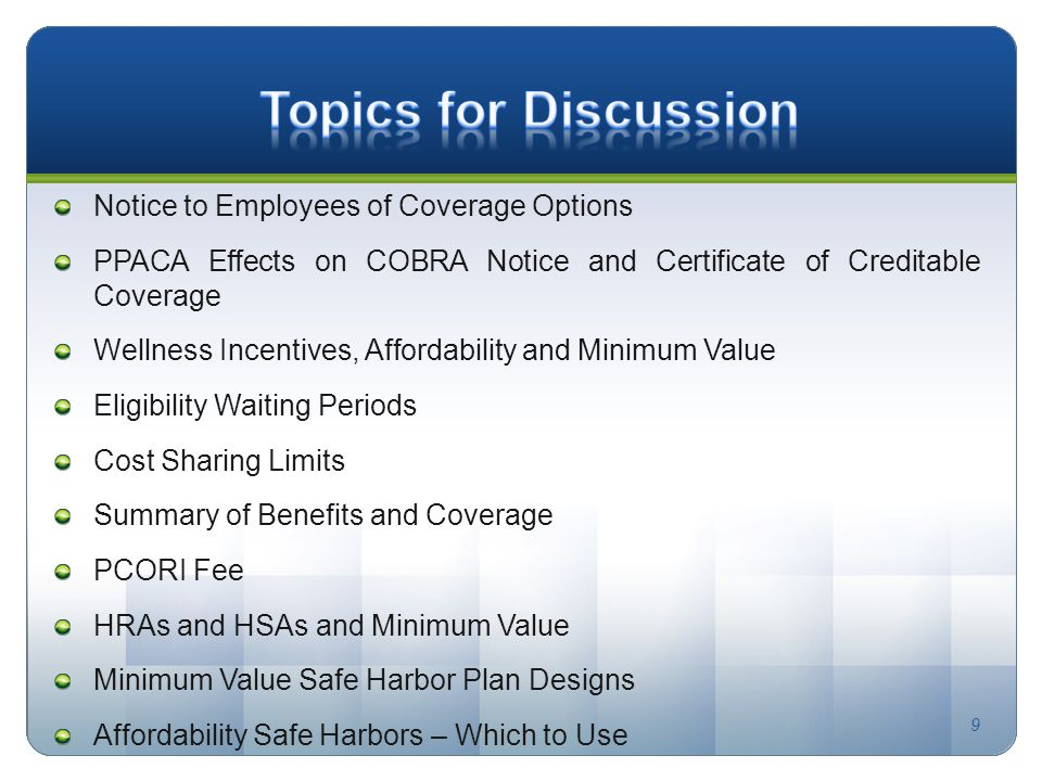 For a copy of the following presentation please visit our website 9 notice to employees of coverage options ppaca effects on cobra notice and certificate of creditable yadclub Images