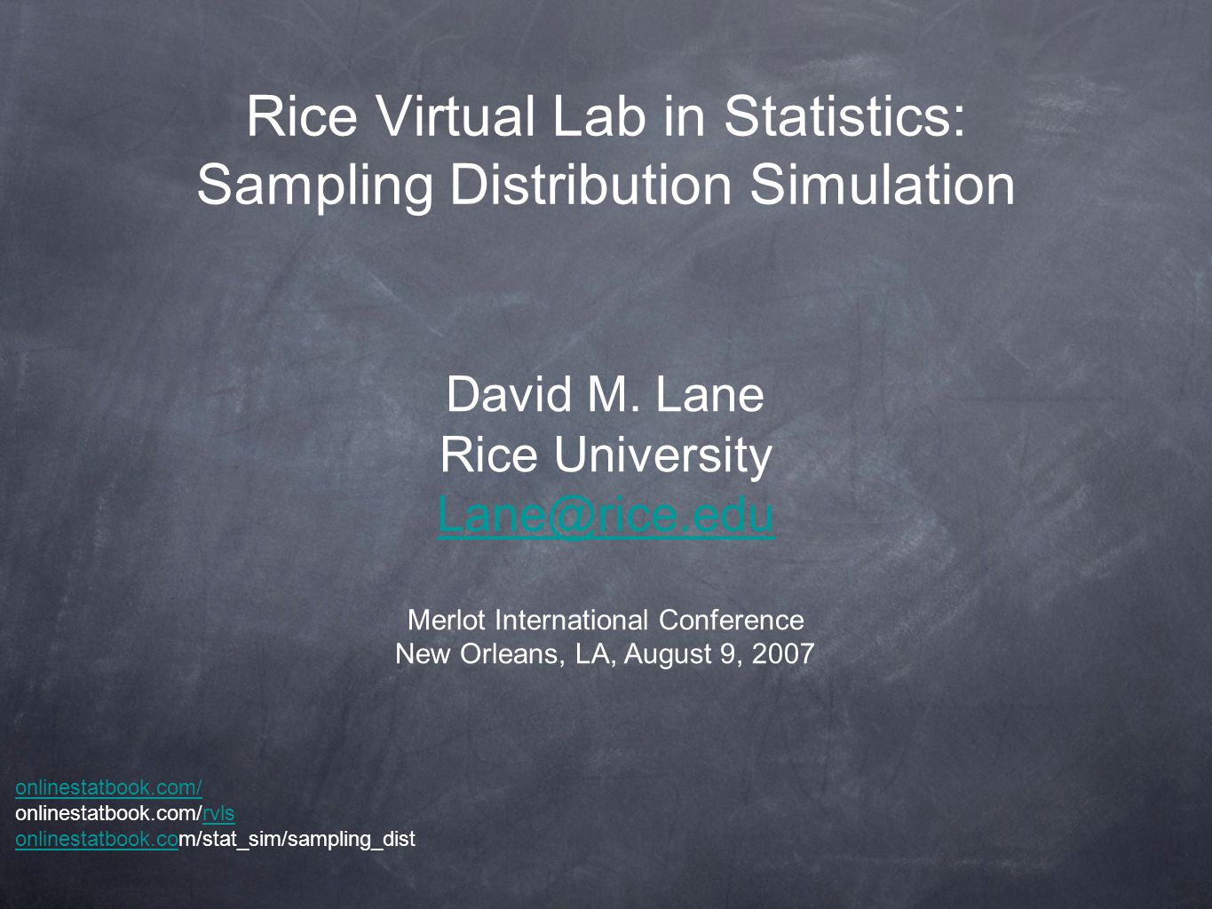 rice virtual lab in statistics: sampling distribution simulation, Presentation templates