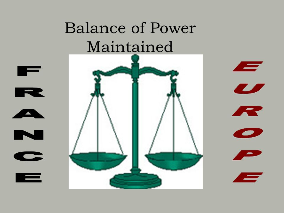 Balance of Power Maintained