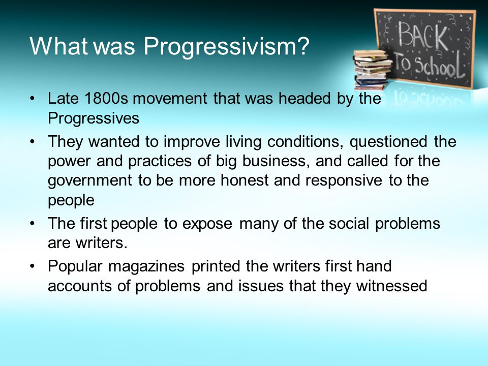 What was Progressivism.