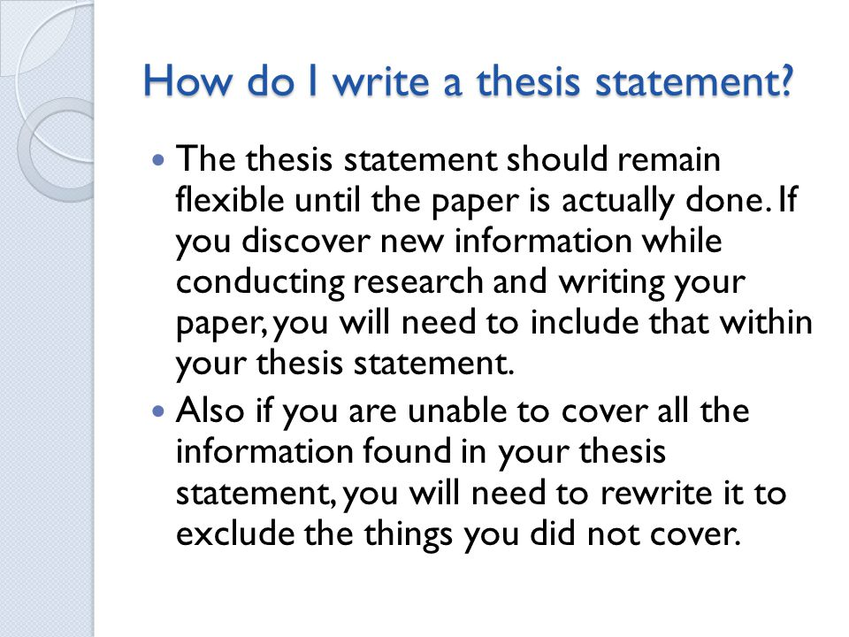 Thesis Statement What Is It What Is A Thesis Statement The  How Do I Write A Thesis Statement
