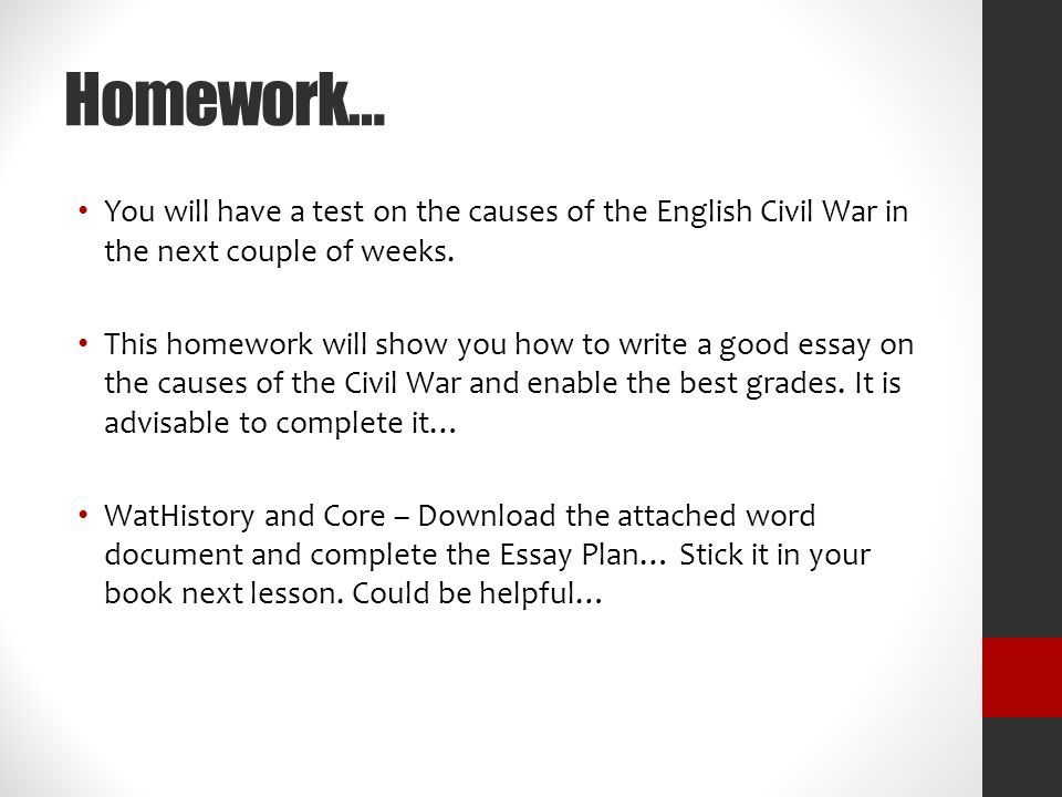 english civil war essay