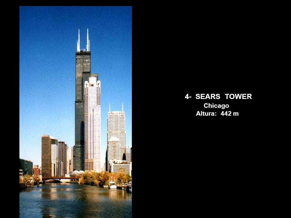 5- JIN MAO TOWER China Altura: 420,5 m