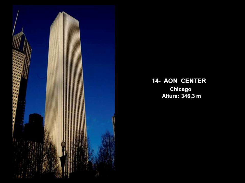 14- AON CENTER Chicago Altura: 346,3 m