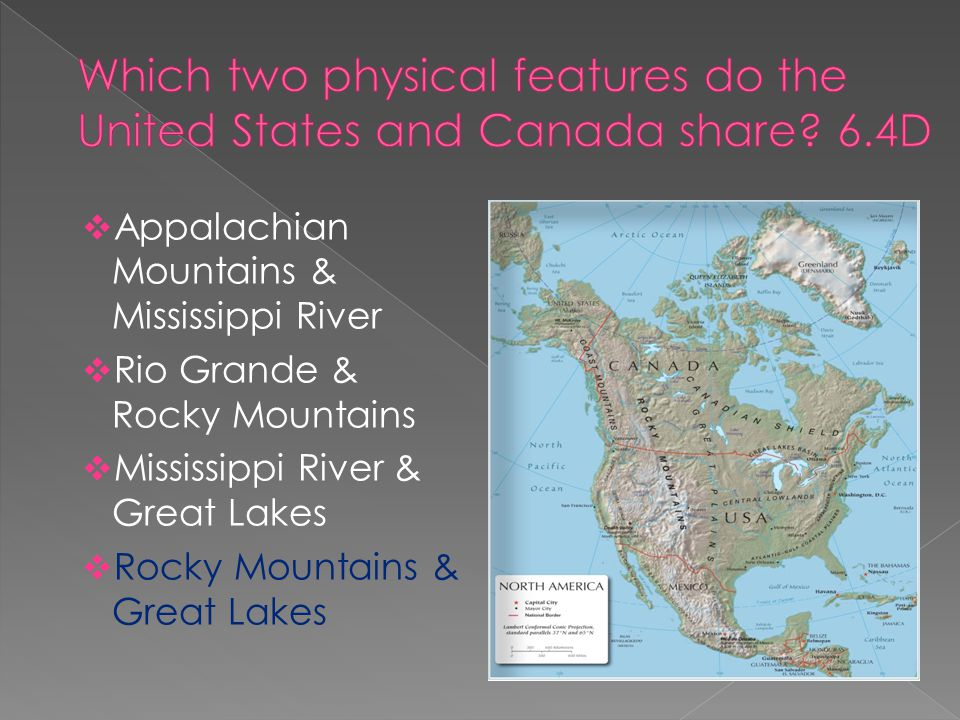 Physical Middle East Map%0A        Appalachian Mountains  u     Mississippi River     Rio Grande  u     Rocky  Mountains     Mississippi River  u     Great Lakes     Rocky Mountains  u     Great Lakes