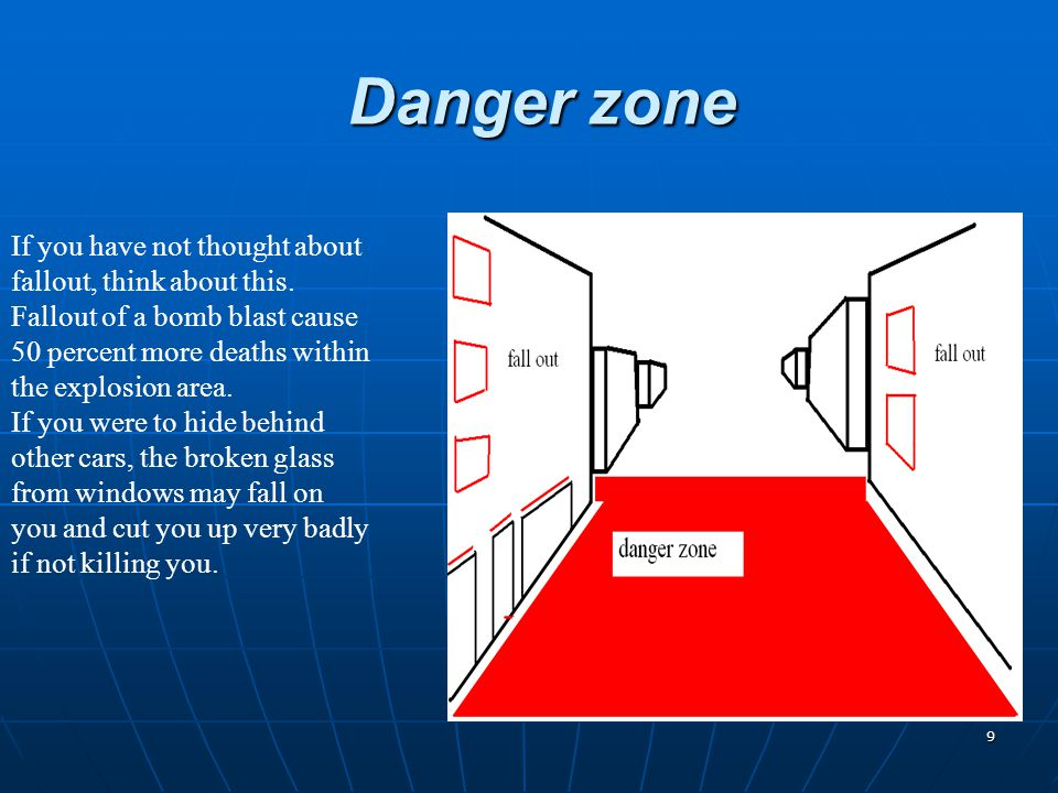 9 Danger zone If you have not thought about fallout, think about this.