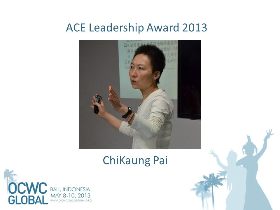 ACE Leadership Award 2013 ChiKaung Pai
