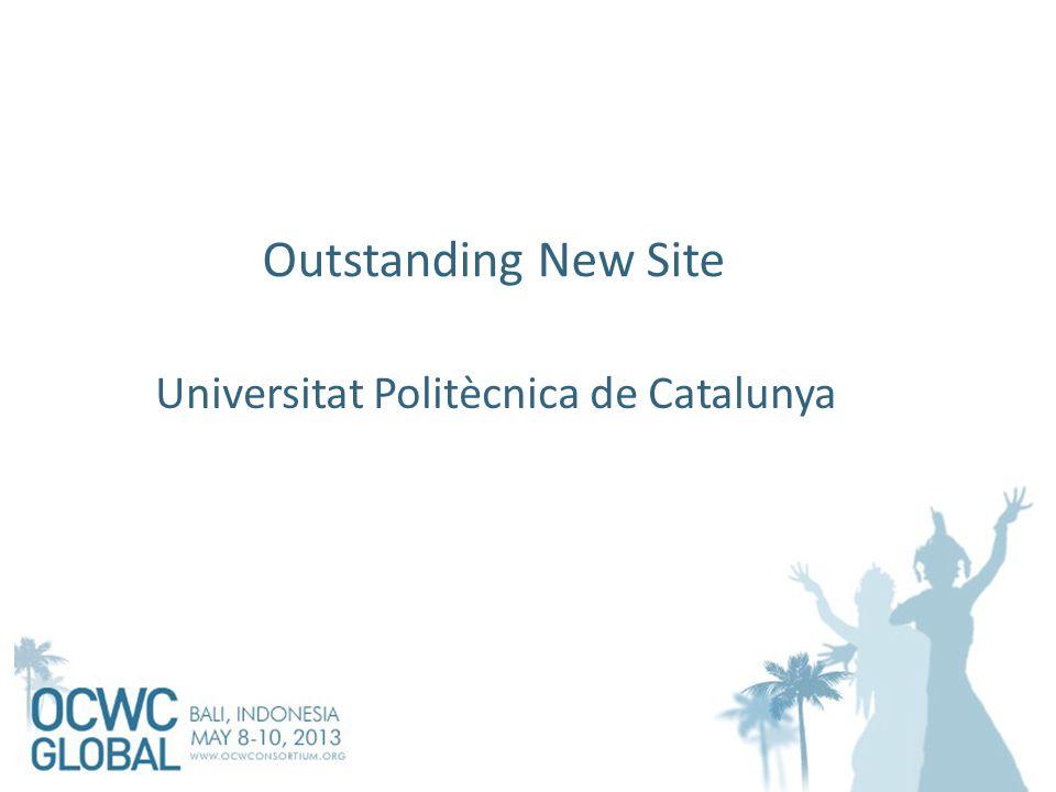 Outstanding New Site Universitat Politècnica de Catalunya