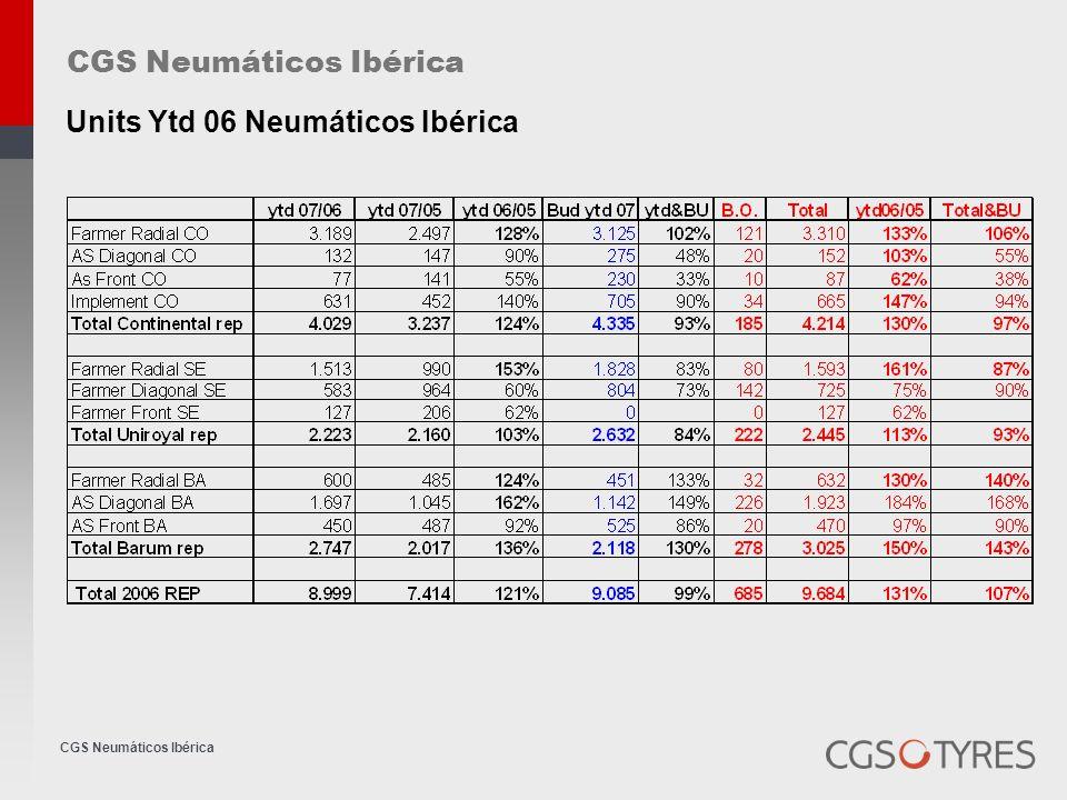 CGS Neumáticos Ibérica Outstanding payments days SpainPortugal 90-105 avera ge 90-120 avera ge 9098 ANTORAZ S.L.90102JOAO ANTONIO ALMEIDA MATOS 90100 CARRION JAYVER S.L.9054AVEIROPNEUS, LDA 9095DISNEUMAN S.A.L.9097BANDAGUE-SOC.